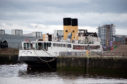 Queen Mary berthed at the Glasgow Science Centre