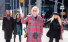 Sir Billy Connolly leading the New York City Tartan Day Parade as Grand Marshal