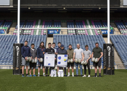 Scottish rugby team at Murrayfield.