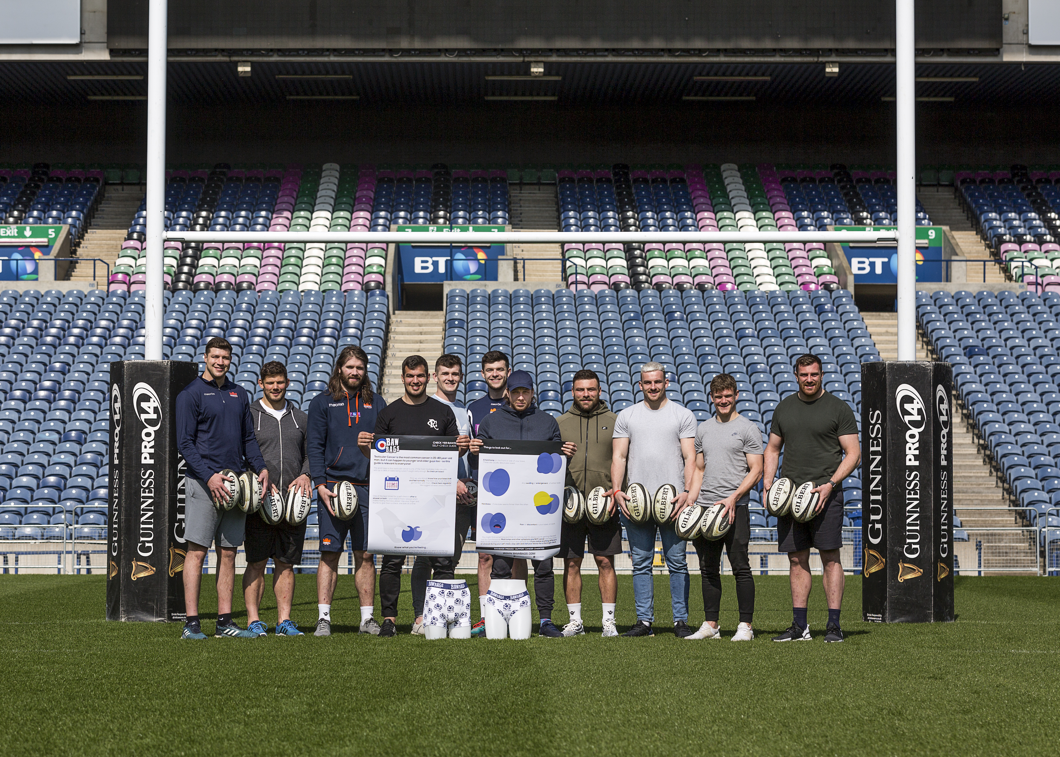 Scottish rugby team at Murrayfield.