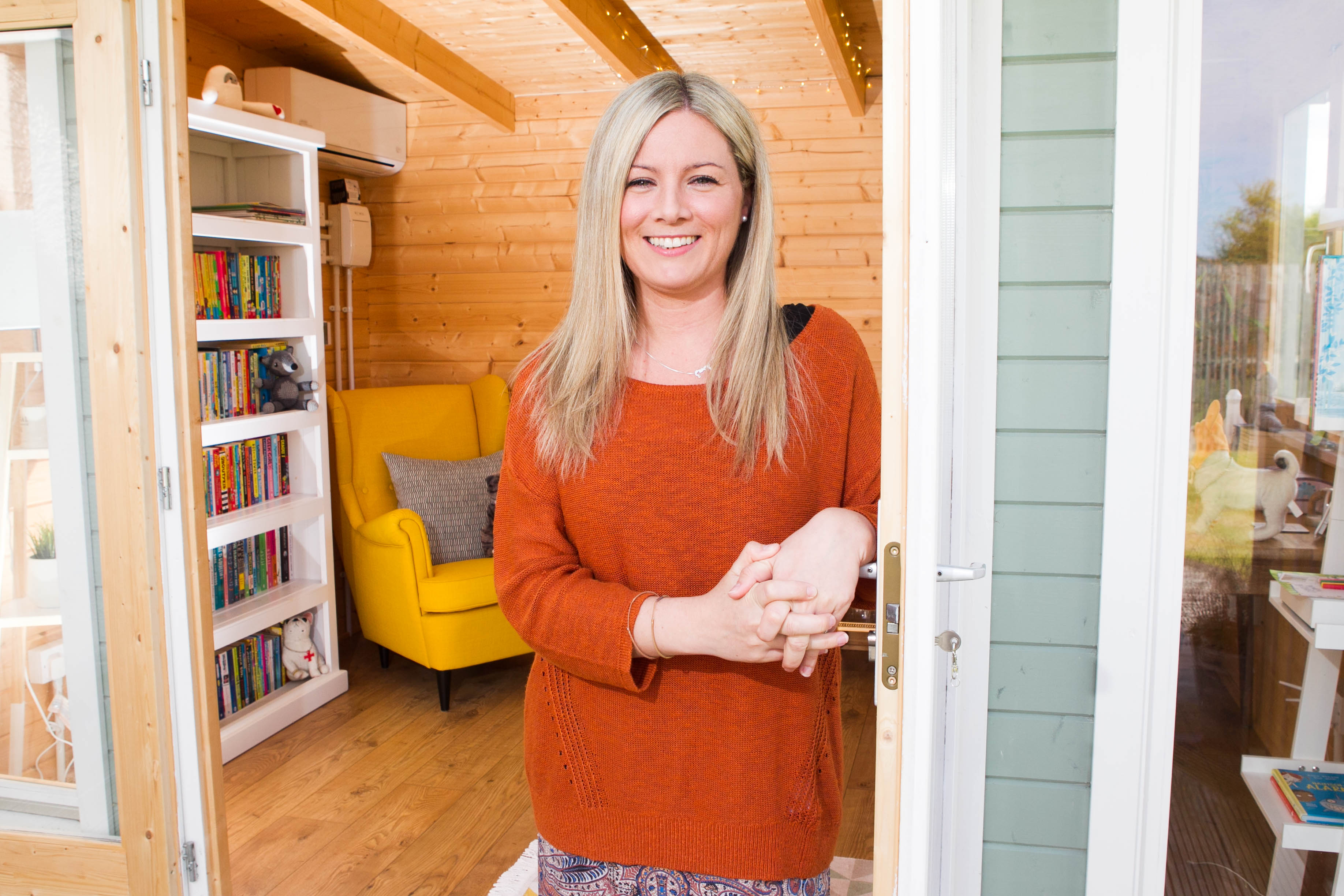 Author Pamela Butchart wrote some of her book in the shed