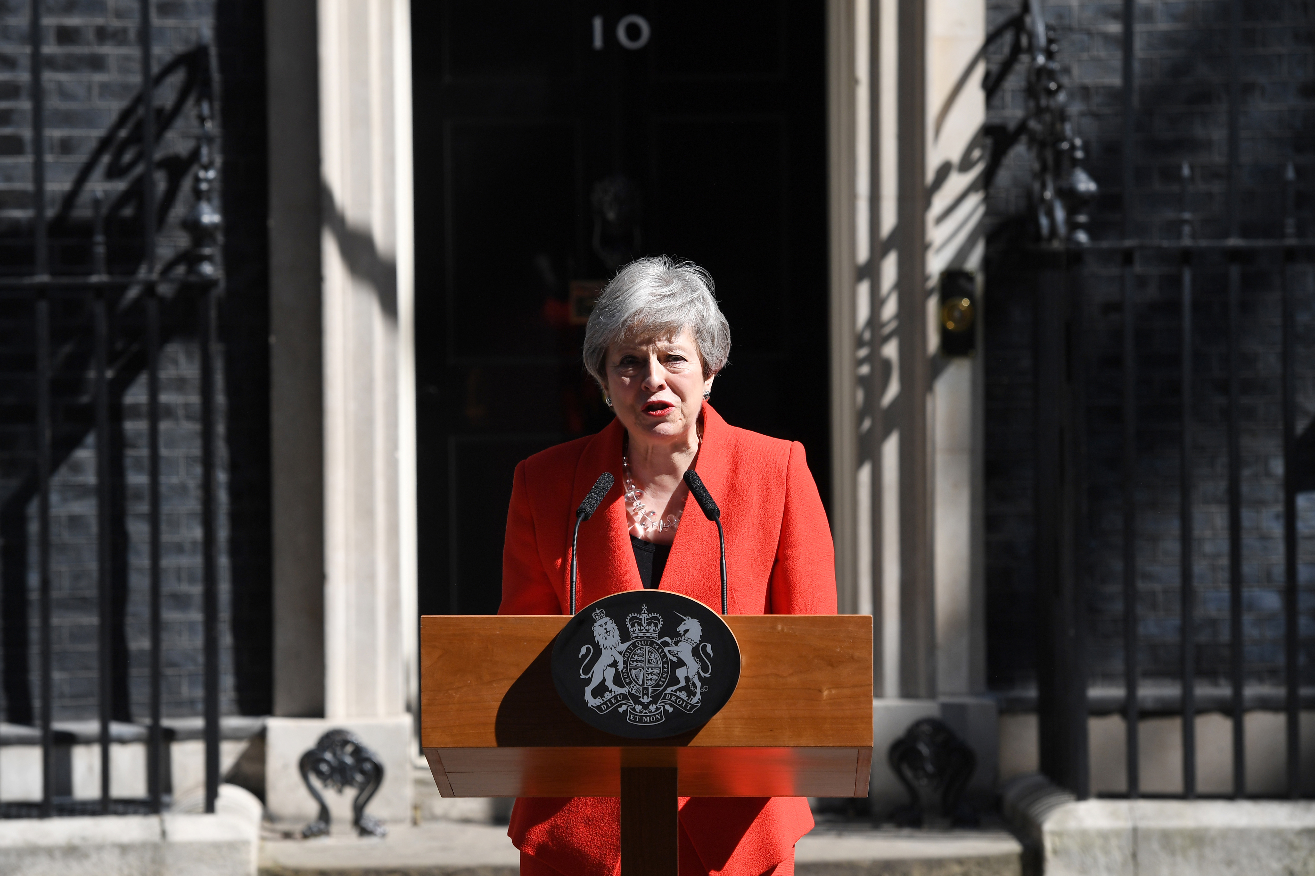 Theresa May makes a statement outside 10 Downing Street
