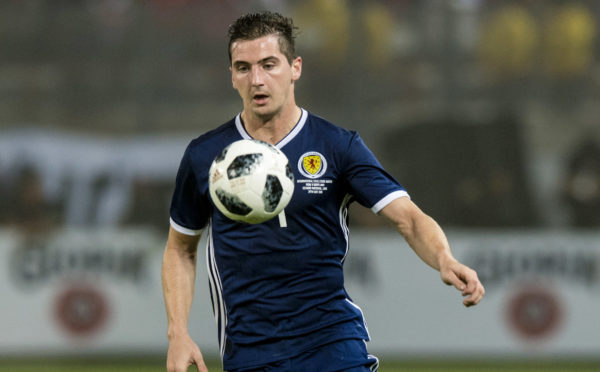 Kenny McLean in action for Scotland