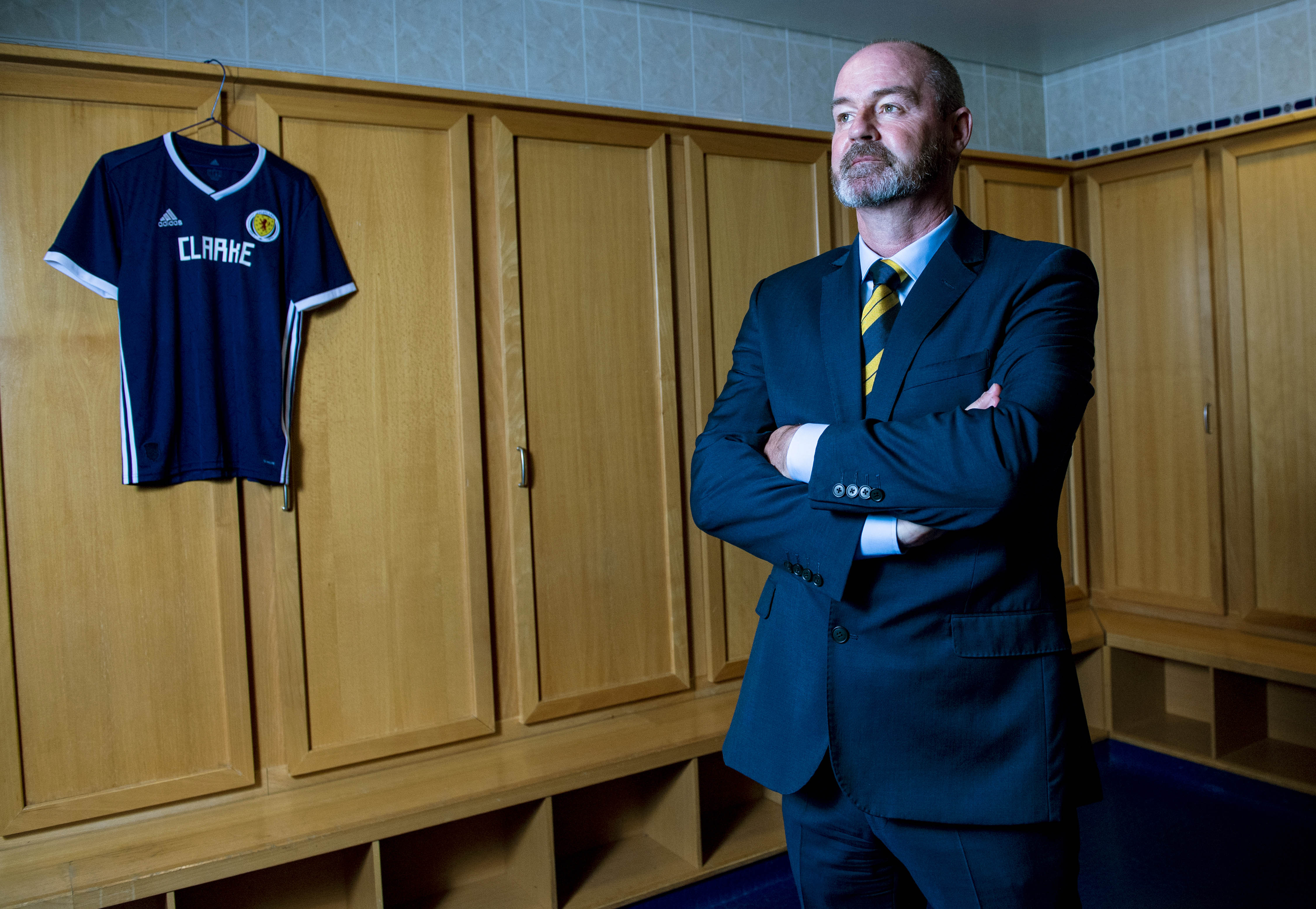 Steve Clarke is unveiled as the new Scotland manager at Hampden.