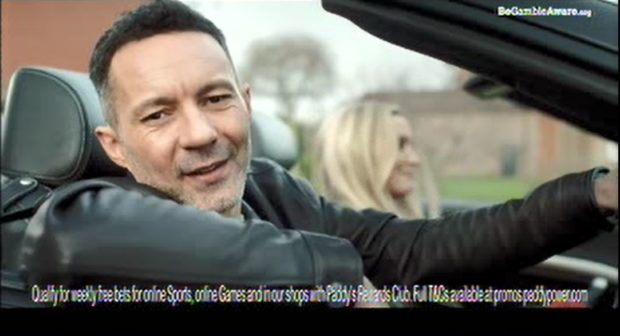 An advert for Paddy Power Rewards, featuring Rhodri Giggs, has been banned