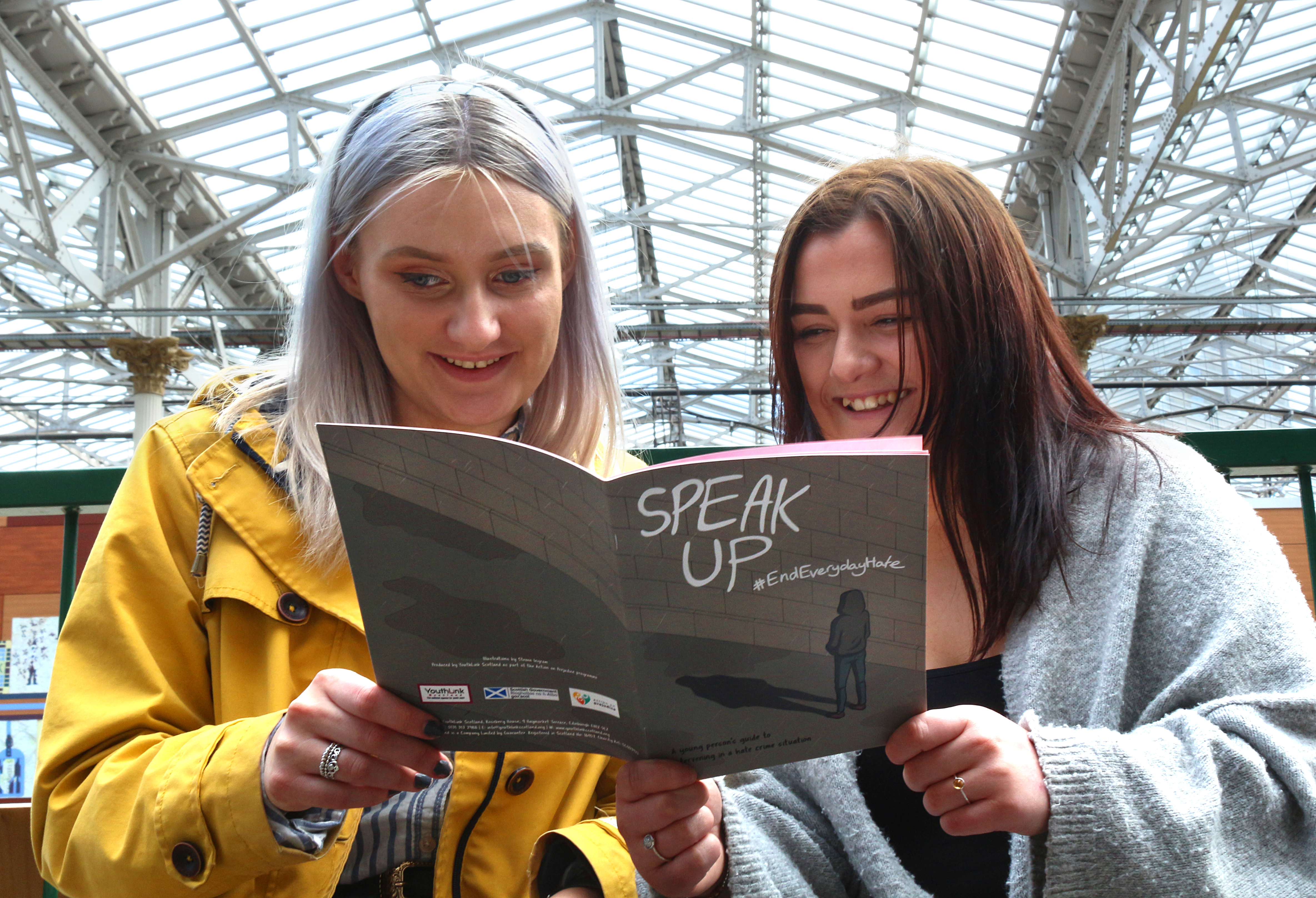 The new comic book 'Speak Up', created as part of the Action on Prejudice programme, which urges young people to stand up to hate crime