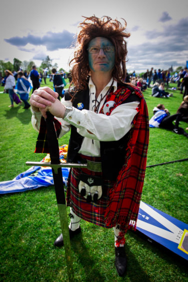 """John Love (from Rosyth), aka """"William Wallace"""", at Glasgow Green"""