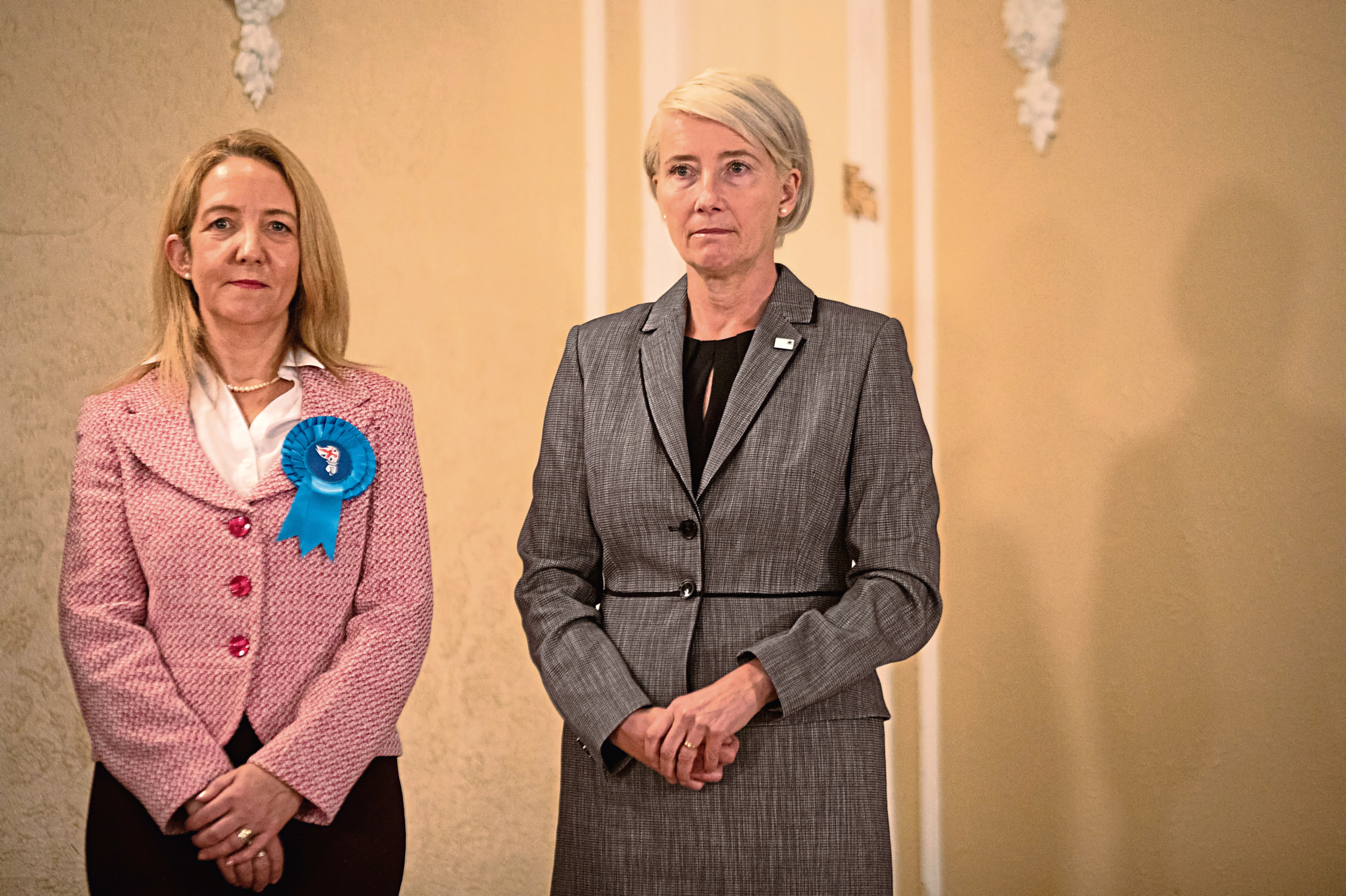 Emma Thompson, right, as Vivienne Rook in Russell T Davies's Years And Years