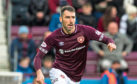 Michael Smith in action for Hearts