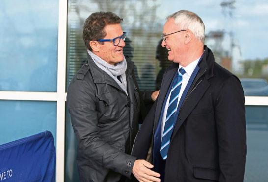 Claudio Ranieri, right, with Fabio Capello
