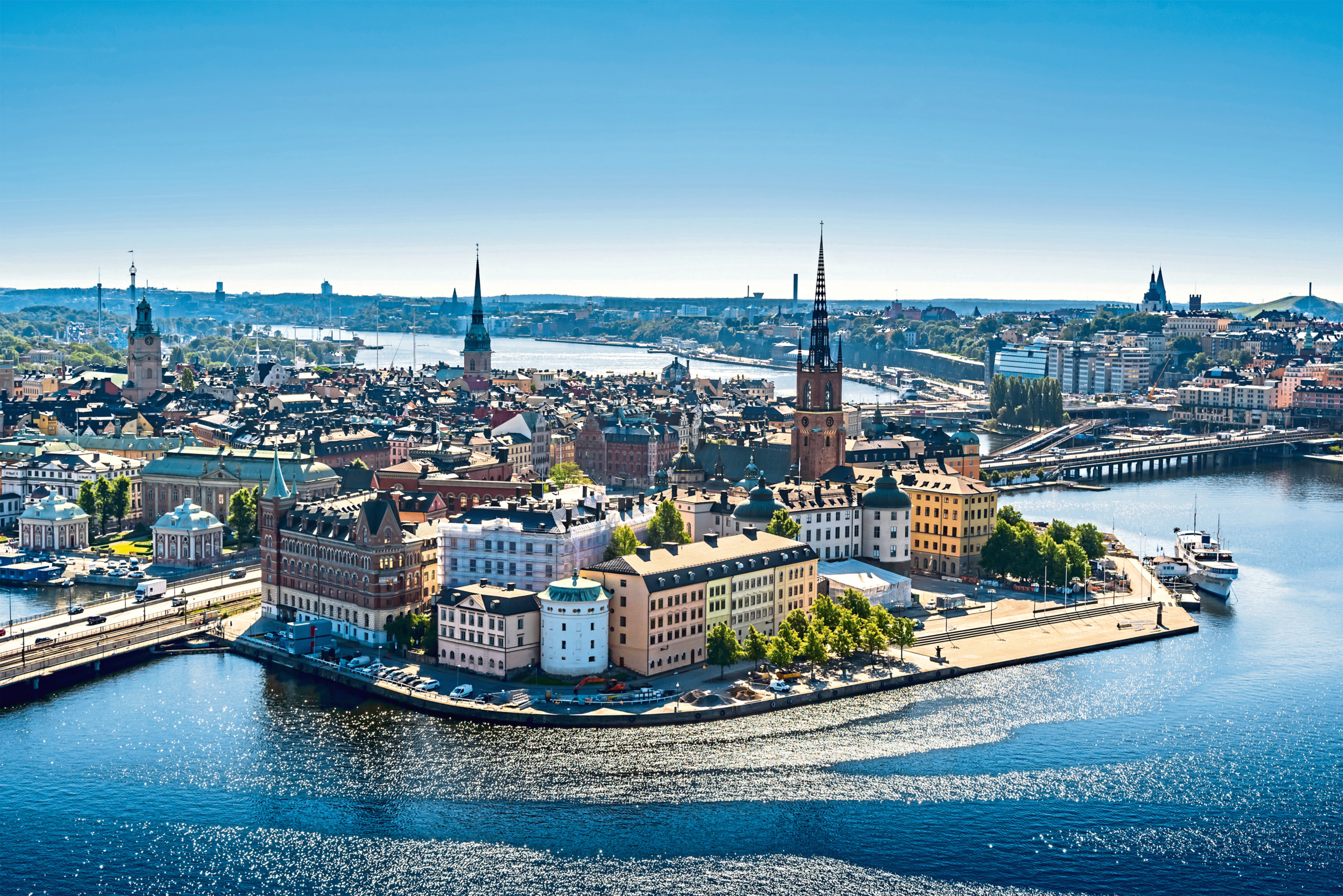 View of the Old Town or Gamla Stan in Stockholm, Sweden