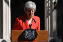 Mrs May was visibly upset by the end of her speech