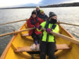 Eskmuthe rowers set out on another adventure in their trusty St Ayles skiff Honesty, so named after their Firth of Forth home in Musselburgh, dubbed The Honest Toun
