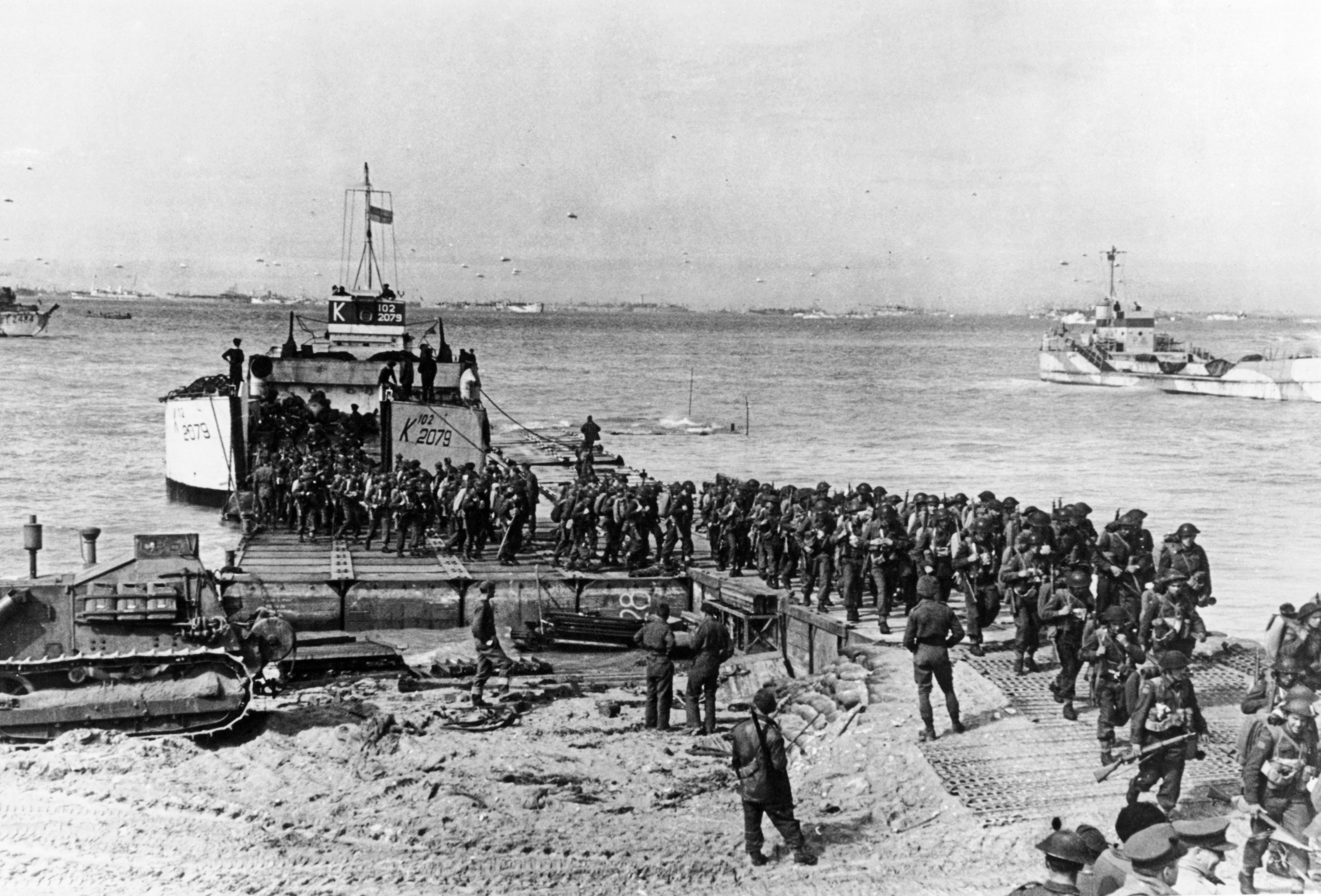 Landing on Normandy during D-Day