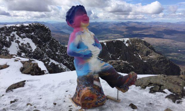 Oor Nevis at the summit of Ben Nevis.