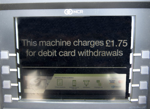 Many ATMs now charge for withdrawals