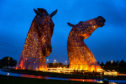 Landmarks across Scotland, including the Kelpies, above, light up orange on Thursday for World Multiple Sclerosis Day in support of MS Society Scotland