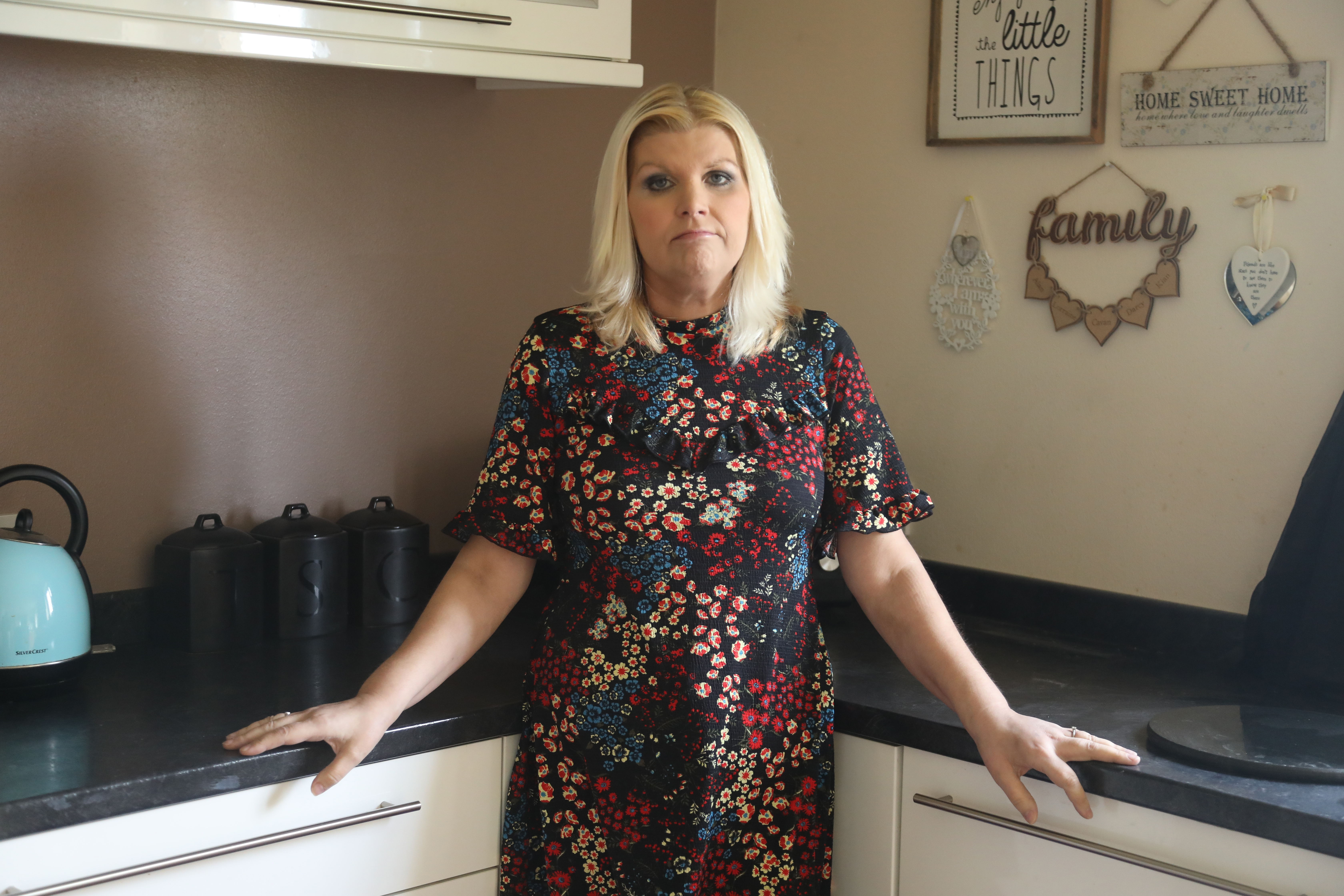 Lorraine Shearer at home in Orkney last week. She first noticed problems in her mouth in January last year, but despite check-ups from different specialists, no action was taken until a biopsy in September showed she had cancer