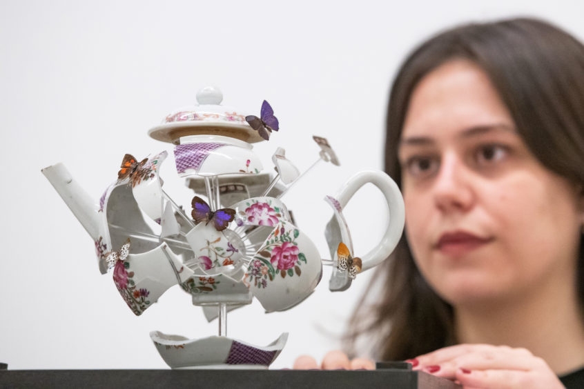 A deconstructed teapot was given a guide price by Christie's of £4,000-£6,000 for the auctioneers' A Celebration of Craftsmanship sale in London