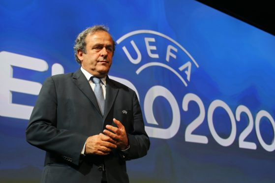 Former UEFA president Michel Platini before being forced out