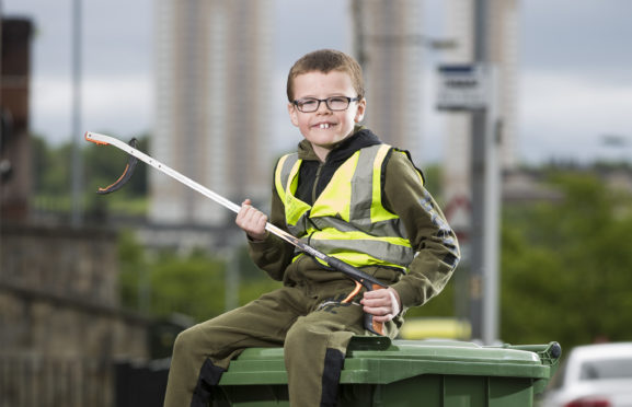 8 year old Marc O'Neill from Milton, Glasgow