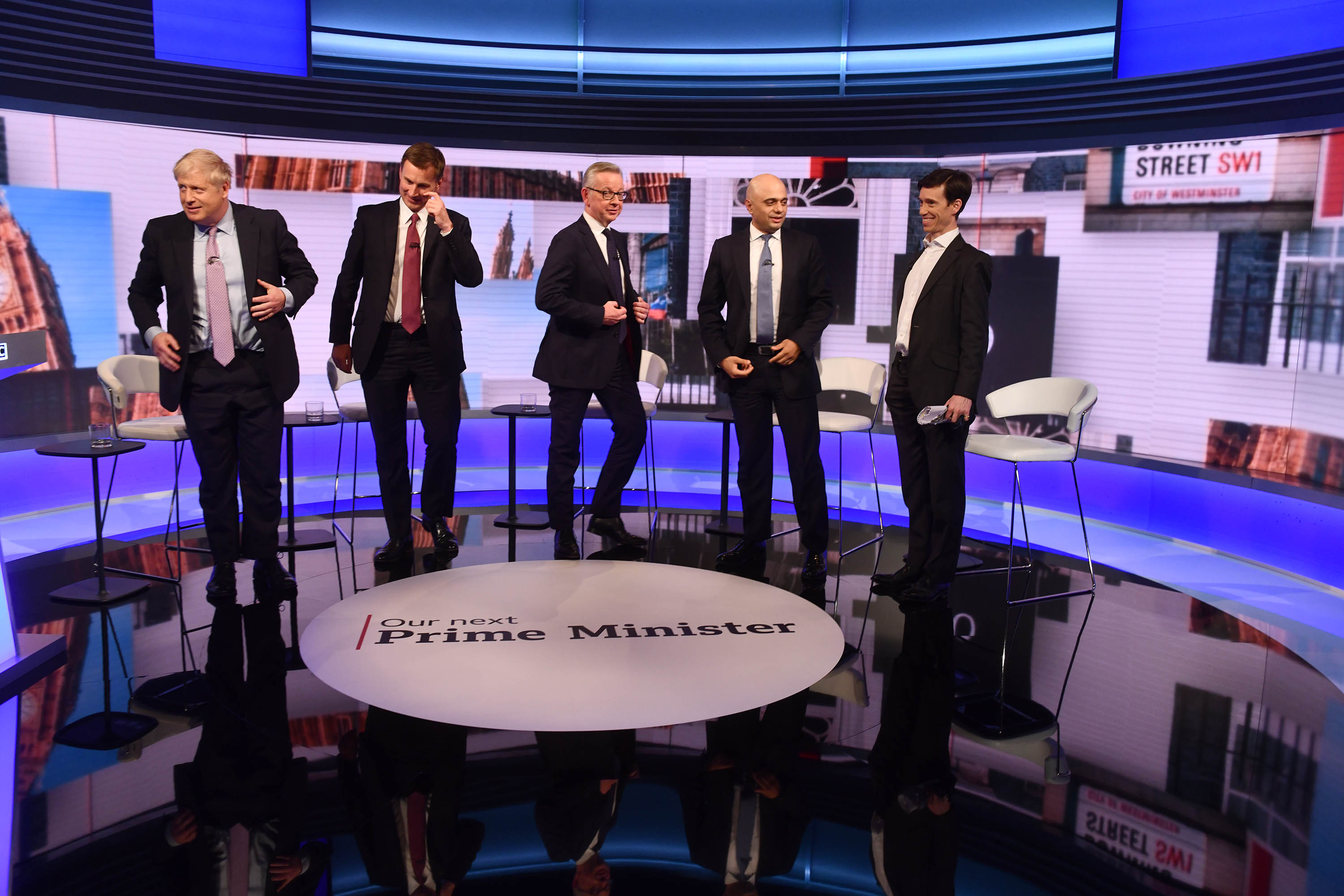 The leadership candidates take part in a TV debate