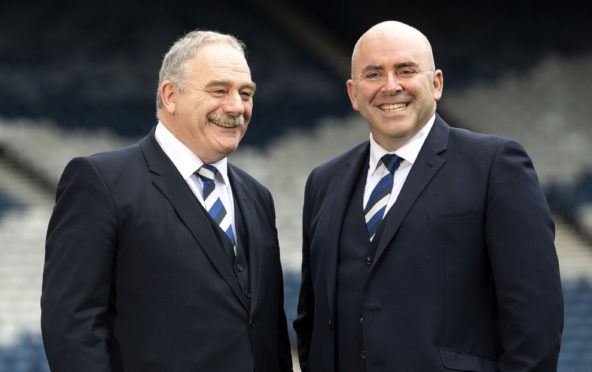 New SFA president Rod Petrie and new vice-president Mike Mulraney