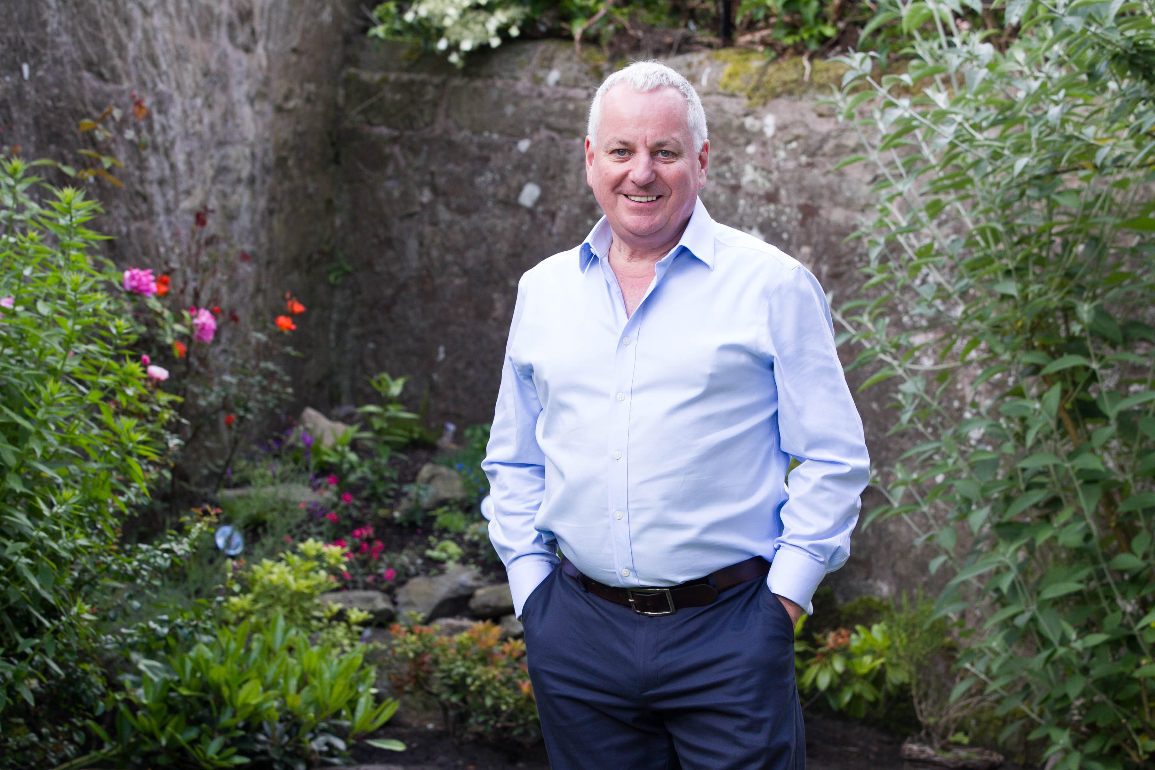 Former First Minister of Scotland Jack McConnell photographed at his home ahead of becoming Stirling University chancellor