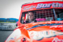 15-year-old Taylor Borthwick behind the wheel