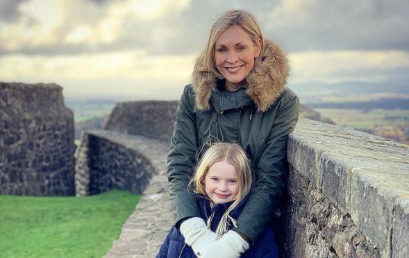 Jenni with daughter Ella at Stirling Castle