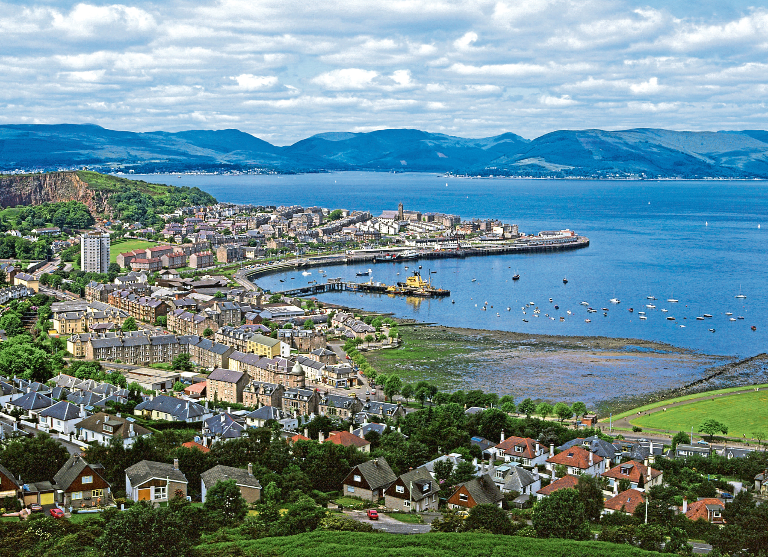 Looking over Gourock and Greenock