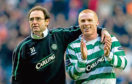 Martin O'Neill (left) with Neil Lennon in 2004