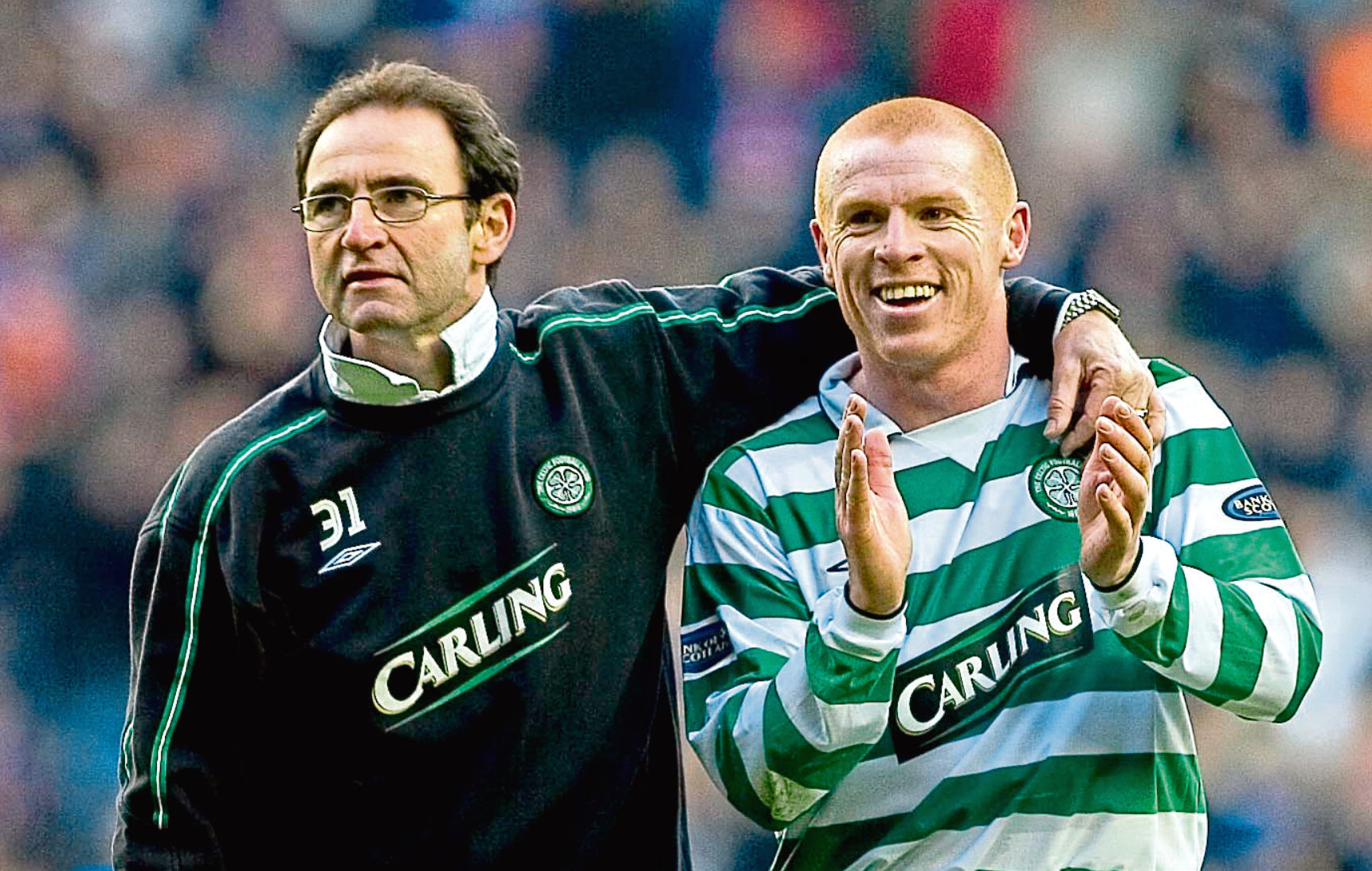 Martin O'Neill (left) with Neil Lennon in 2004