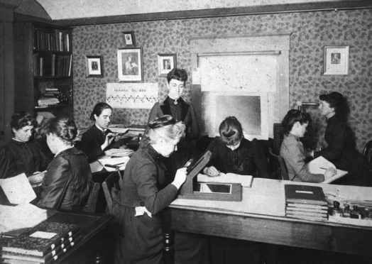 """""""Pickering's Harem,"""" so-called, for the group of women computers at the Harvard College Observatory, who worked for the astronomer Edward Charles Pickering. The group included Harvard computer and astronomer Henrietta Swan Leavitt (1868–1921), Annie Jump Cannon (1863–1941), Williamina Fleming (1857–1911), and Antonia Maury (1866–1952)."""