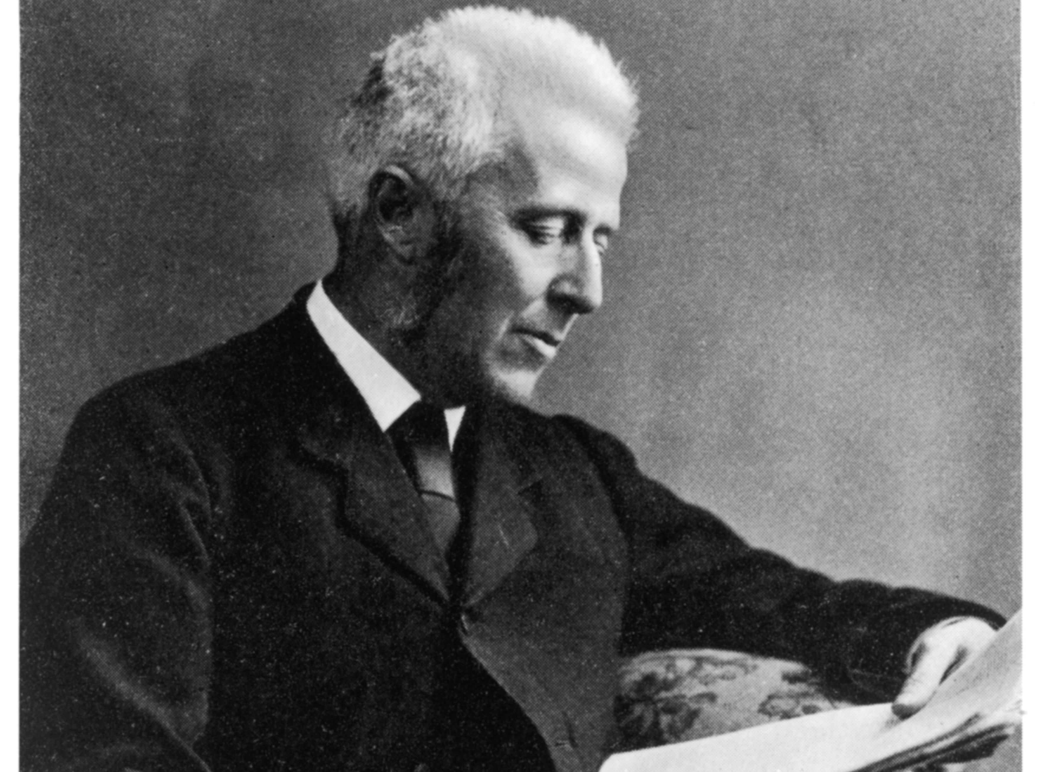Dr Joseph Bell, surgeon at Edinburgh  University school of medicine  where he taught Conan Doyle  and inspired the character of  Sherlock Holmes. Date: 1837 - 1911