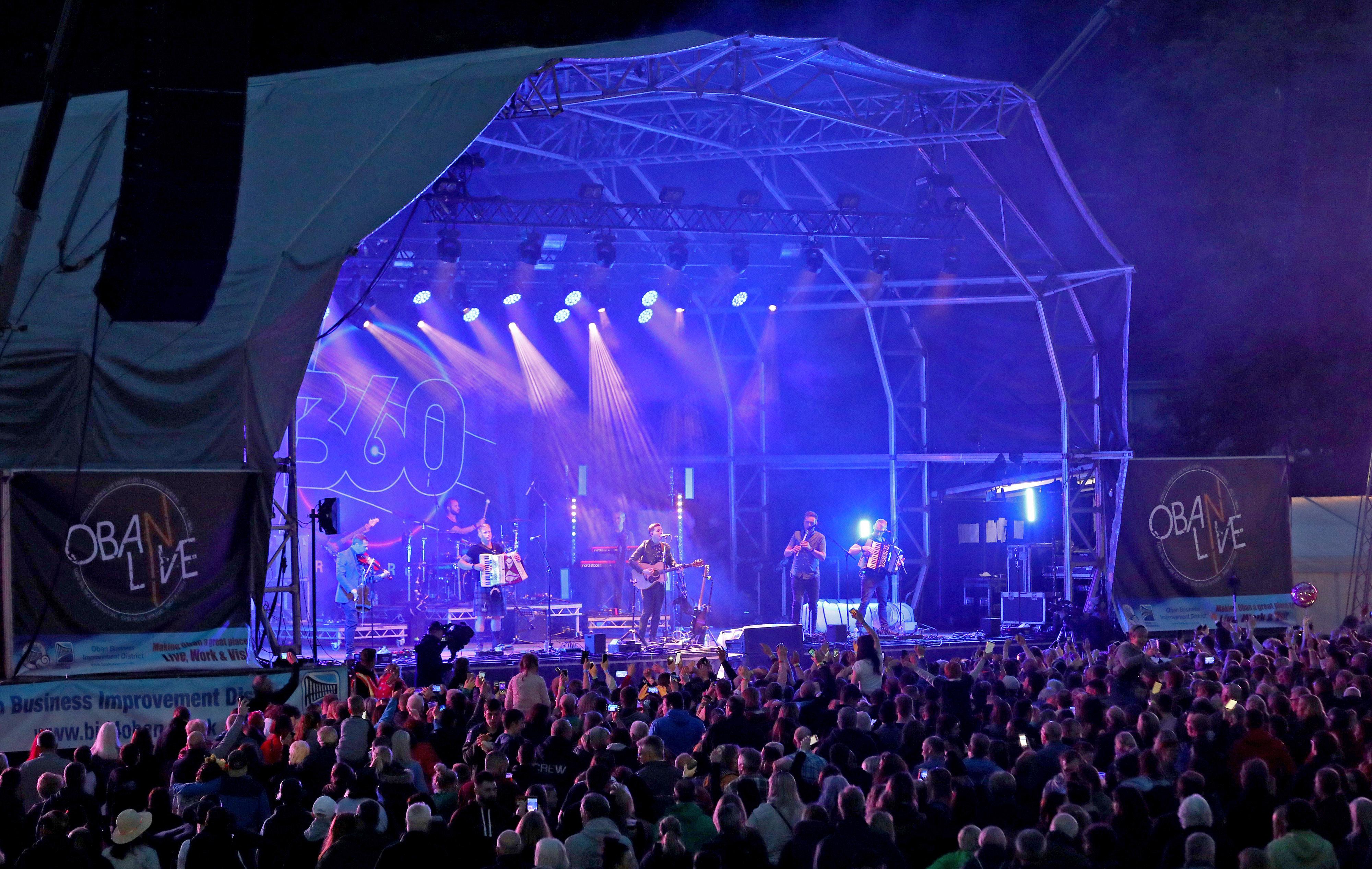 Skerryvore performing at Oban Live 2019