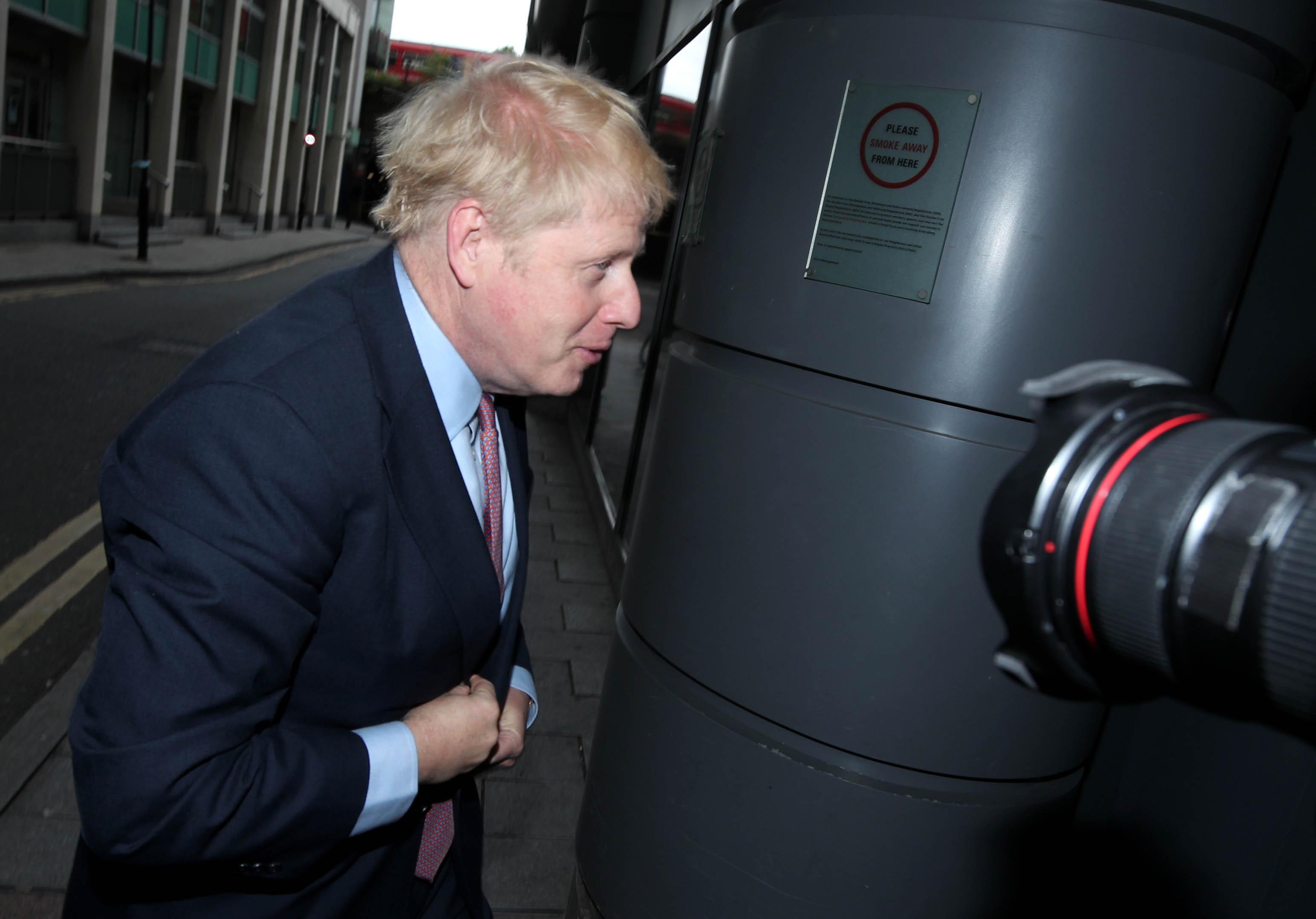 Conservative party leadership contender Boris Johnson