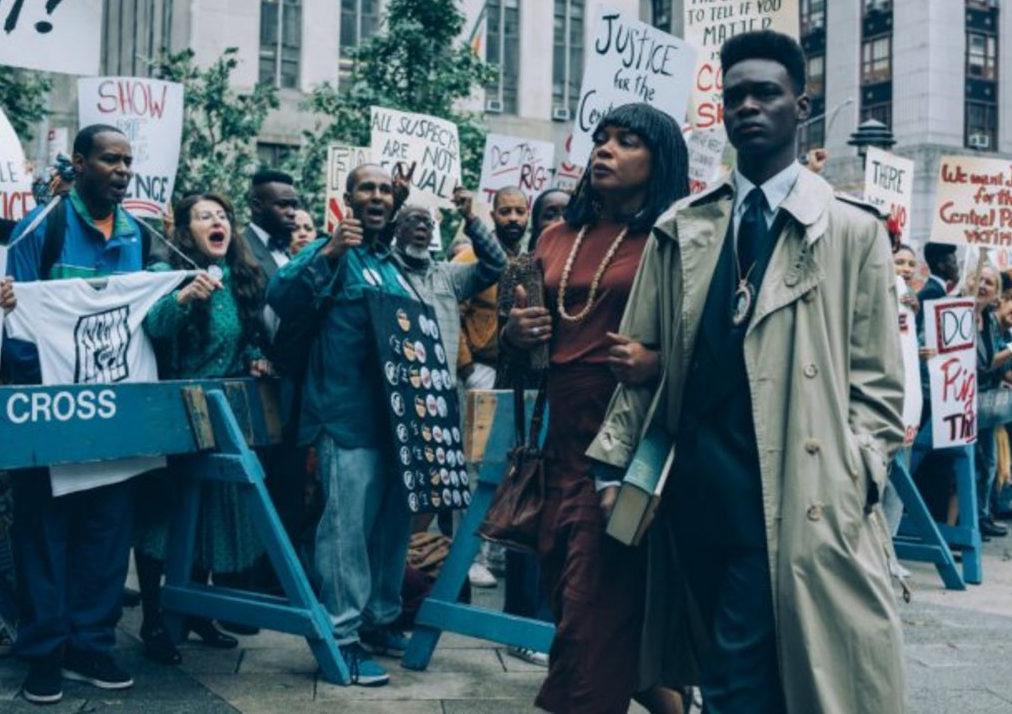 When they see us: Netflix. a series about the trial of the Central Park Five when Kevin Richardson, Antron Mccray, Raymond Santana Jr., Korey Wise, and Yusef Salaam were arrested for the rape and assault of a jogger in central park, New York in 1989. They were imprisoned for 13 yrs until DNA evidence exonerated them.