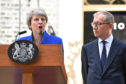 Outgoing Prime Minister Theresa May makes a final statement