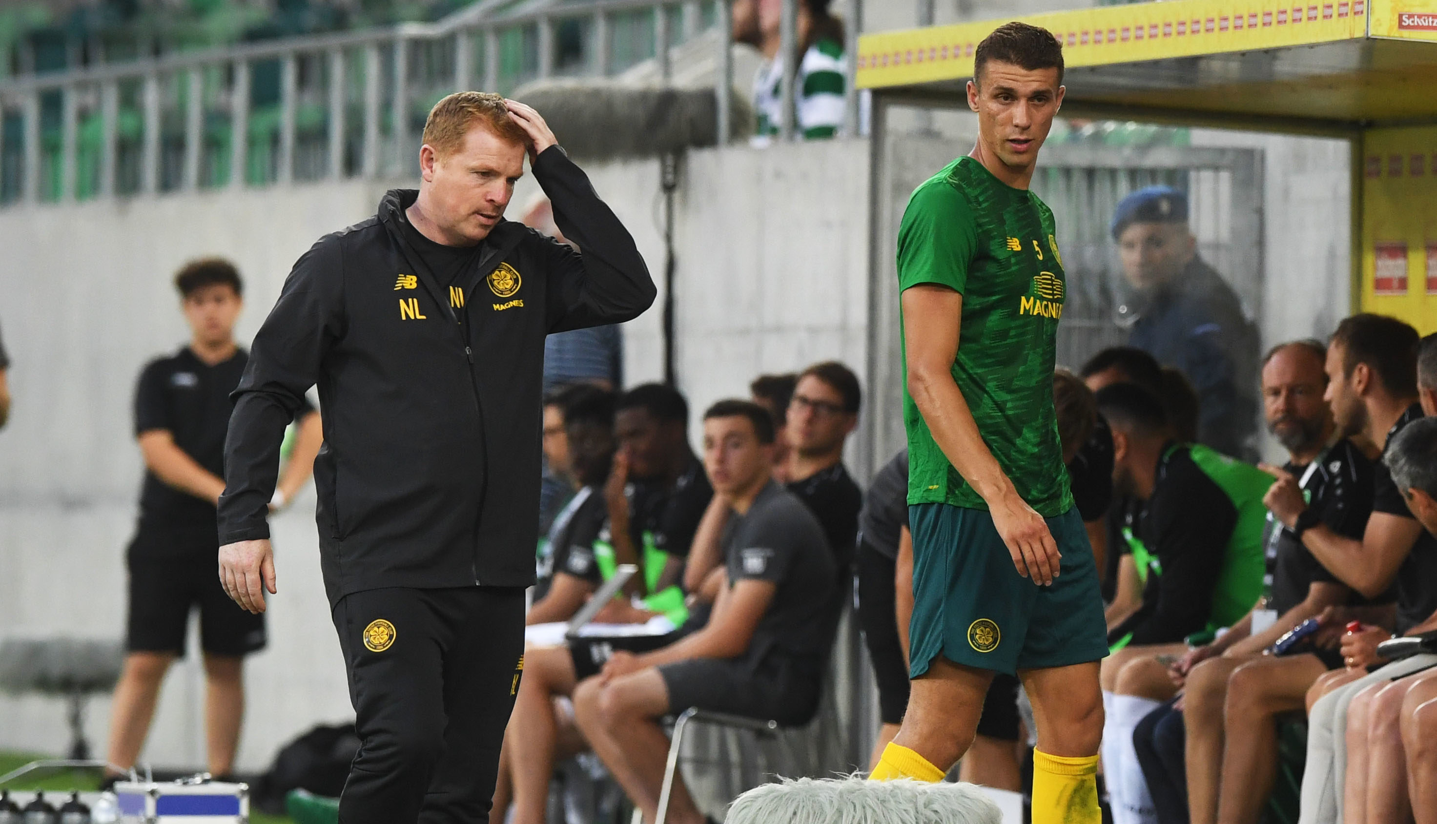 After a VAR check, Jozo Simunovic received a red card for a dangerous tackle in a friendly