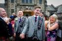 The first gay wedding to be held at the United Reformed Church, in Rutherglen, Glasgow, between Ian McDowell (L) and Jamie (James) Wallace (R).