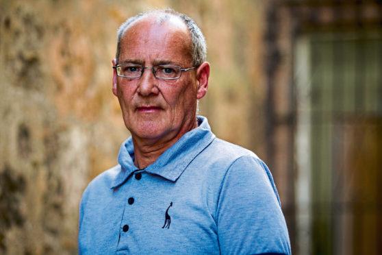 Joe Steele at his home in Glasgow last week