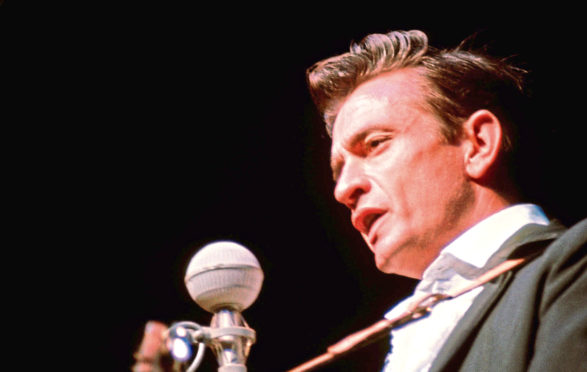 Johnny Cash performing