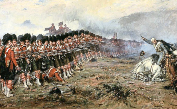 Robert Gibb's The Thin Red Line depicts 93rd Highlanders halting Russian charge during Crimean War