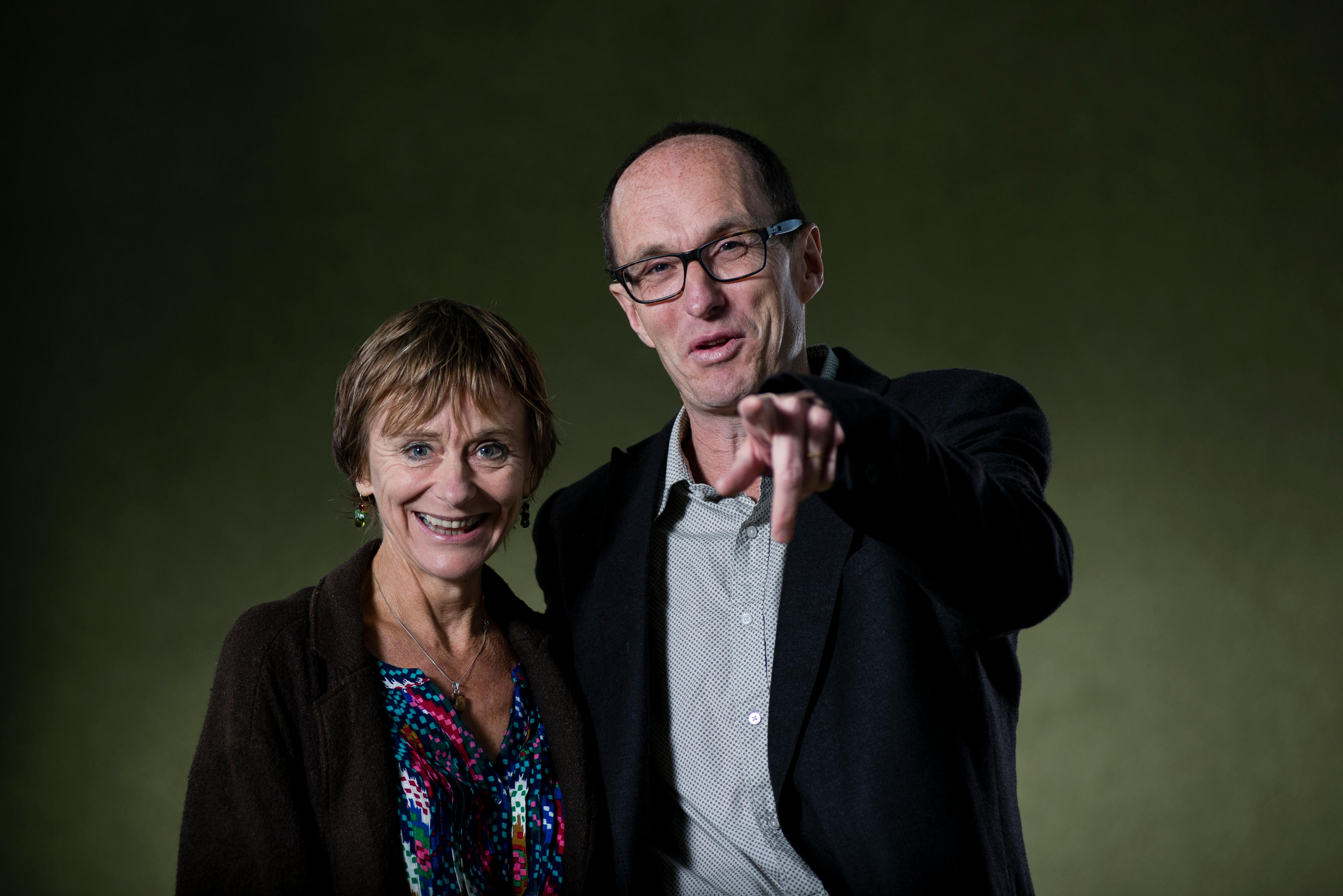 Nicci Gerrard and Sean French, who write thrillers together under the pseudonym of Nicci French at the Edinburg book Festival.