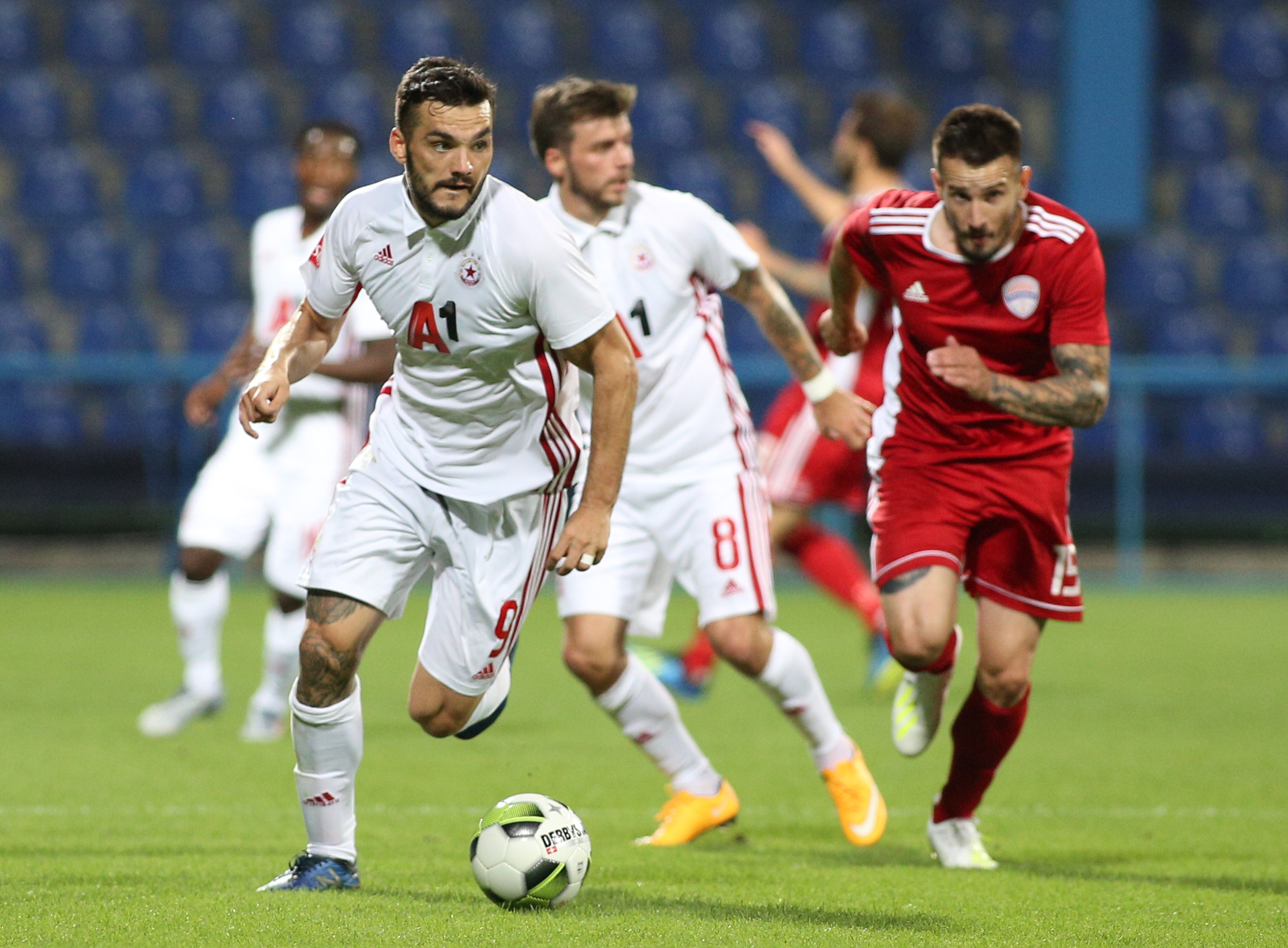 Tony Watt in action for CSKA Sofia during the Europa League first round qualifier match with OFK Titograd
