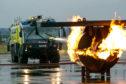 Regular fire crews train at Glasgow airport