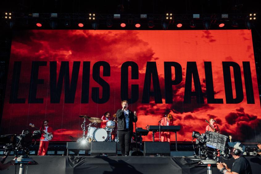 Lewis Capaldi on stage