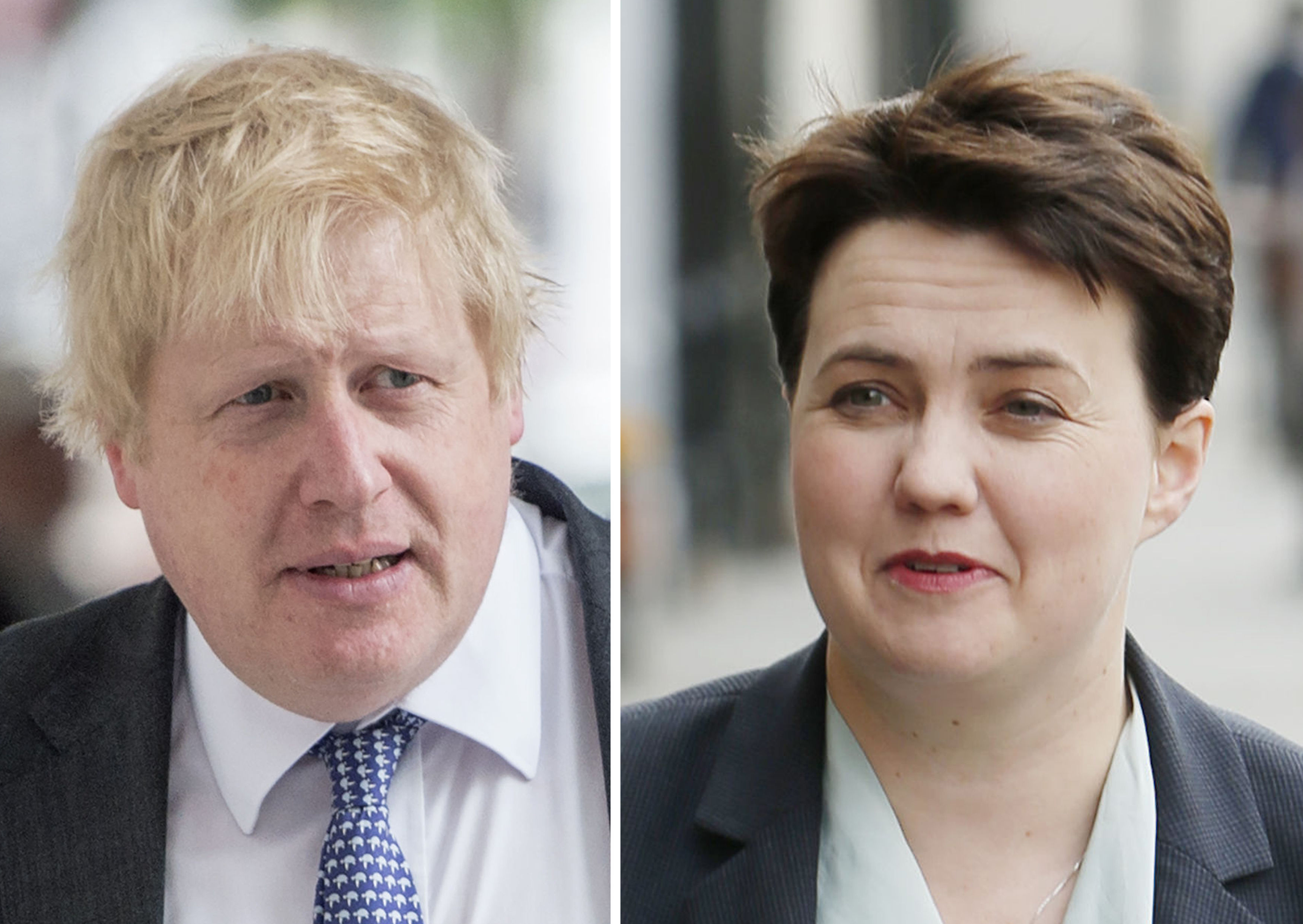 Boris Johnson and Scottish Conservative leader Ruth Davidson
