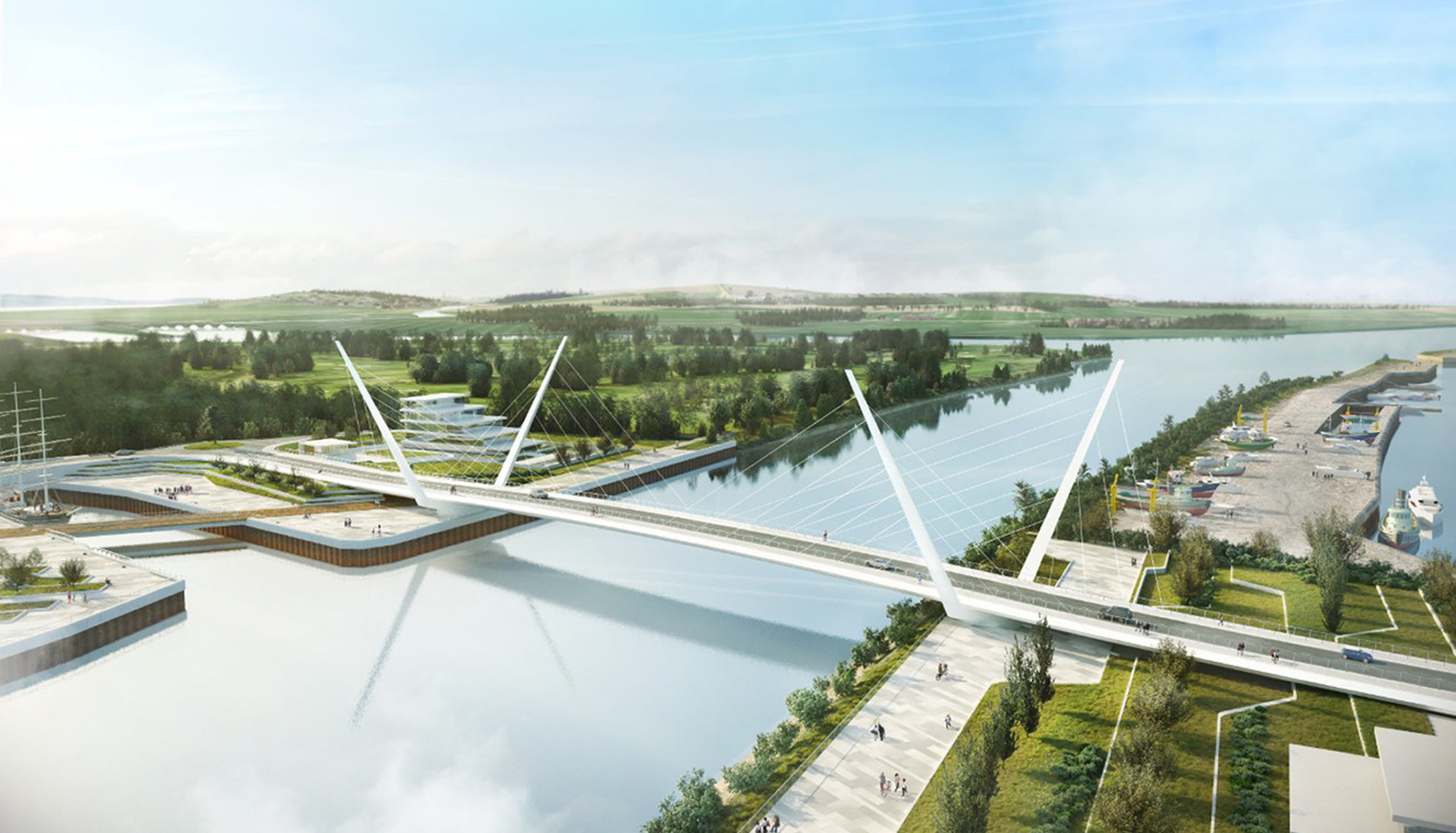 How the bridge could look closed.